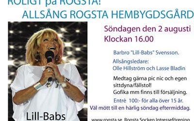 Allsång med Lill-Babs söndag 2 augusti