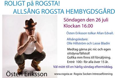 Allsång med Östen Eriksson söndag 26 juli